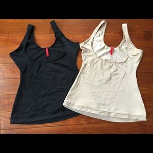 Spanx open bust body shaping size large Lot of 2